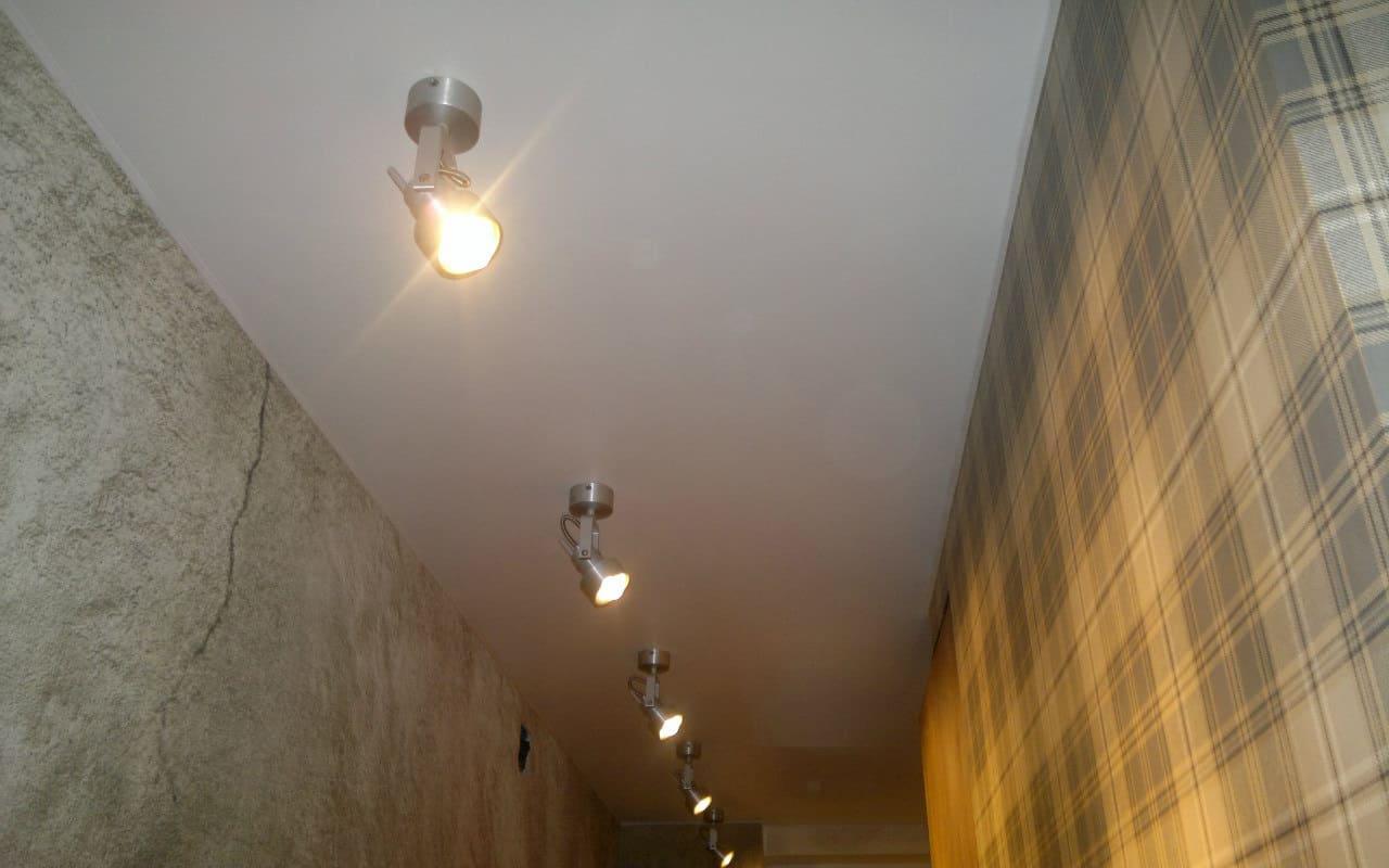Натяжной потолок Cold Stretch в прихожую 4,5 кв.м