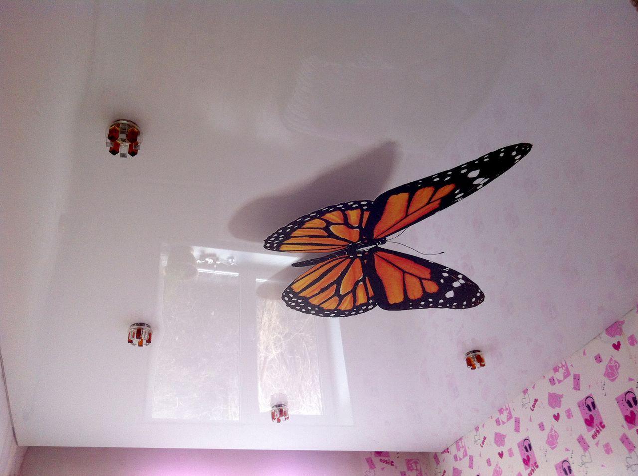 Натяжной потолок с фотопечатью в детской 15,3 кв.м.